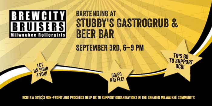 Come support BCB at Stubby's Gastrogrub & Beer Bar